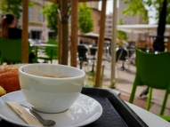 Place de Lenche is a good coffee stop, there are several cafes around the small square