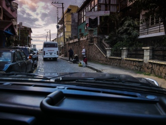 Reaching my hotel in the hilly center of Antananarivo